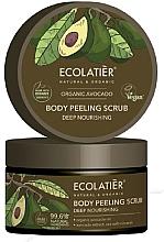 "Parfumuri și produse cosmetice Scrub pentru corp ""Nutriție profundă"" - Ecolatier Organic Avocado Body Peeling Scrub"