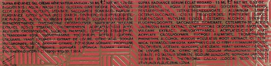 Set - Lierac Supra Radiance (gel/cr/50ml + eye/ser/15ml) — Imagine N4