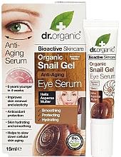 Parfumuri și produse cosmetice Ser anti-îmbătrânire cu extract de mucină de melc pentru ochi - Dr. Organic Bioactive Skincare Anti-Aging Snail Gel Eye Serum
