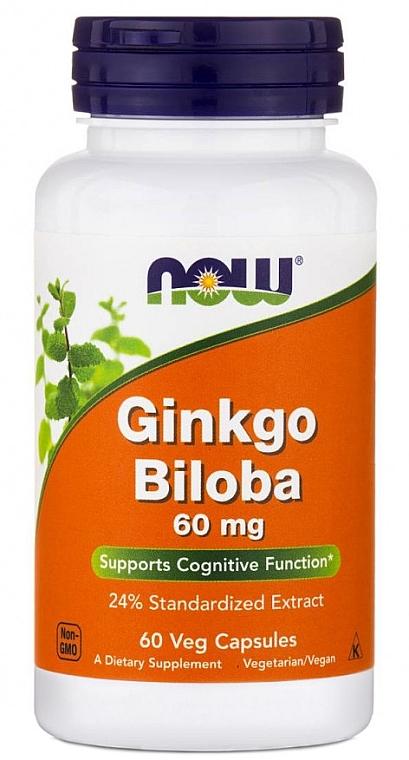 """Capsule """"Ginkgo biloba"""" 60 mg - Now Foods Ginkgo Biloba"""
