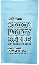 """Parfumuri și produse cosmetice Scrub pentru corp """"Nucă de cocos, spirulină și cactus"""" - Cafe Mimi Coco Body Scrub Coconut Spirulina Cactus"""