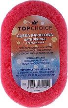 Parfumuri și produse cosmetice Burete pentru baie 30451, roz + galben - Top Choice