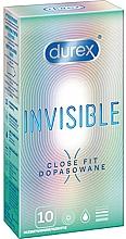Parfumuri și produse cosmetice Prezervative Close Fit, 10 bucăți - Durex Invisible Close Fit