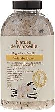 Parfumuri și produse cosmetice Sare de baie cu aromă de vanilie și magnolie - Nature de Marseille
