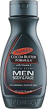 Parfumuri și produse cosmetice Loțiune pentru față și corp, pentru bărbați - Palmer's Cocoa Butter Formula Men Body & Face Lotion