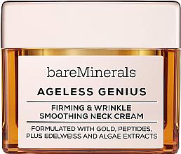 Parfumuri și produse cosmetice Cremă pentru fermitatea și netezirea zonei gâtului - Bare Escentuals Bare Minerals Moisturizer Ageless Genius Firming & Wrinkle Smoothing Neck Cream