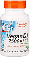 Parfumuri și produse cosmetice Vegan Vitamina D3 cu Vitashine D3, 2500 UI, capsule - Doctor's Best