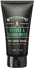 Parfumuri și produse cosmetice Scrub pre-bărbierit - Scottish Fine Soaps Vetiver & Sandalwood Pre-shave Scrub