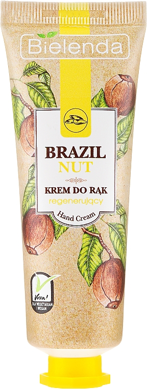 """Cremă de mâini """"Nucă braziliană"""" - Bielenda Regenerating Hand Cream"""