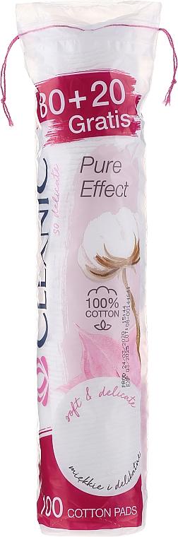 """Discuri din bumbac """"Pure Effect"""", 80+20 bucăți - Cleanic Face Care Cotton Pads"""