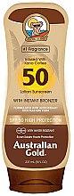 Parfumuri și produse cosmetice Loțiune cu protecție solară pentru bronzare - Australian Gold Bronzer Lotion SPF50