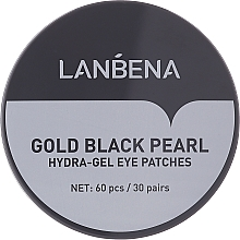 Parfumuri și produse cosmetice Patch-uri hidrogel cu perle aurii și negre - Lanbena Gold Black Pearl Hydra-Gel Eye Patch