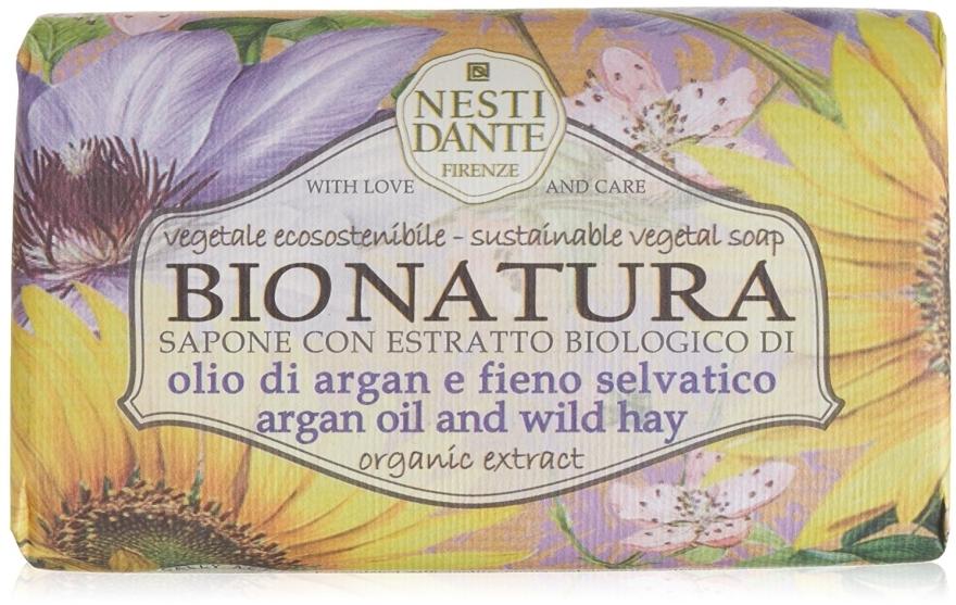 Săpun cu ulei de argan și fân - Nesti Dante Bio Natura Argan Oil & Wild Hay Soap