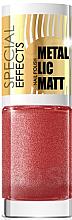 Parfumuri și produse cosmetice Lac de unghii - Eveline Cosmetics Special Effects Metallic Matt
