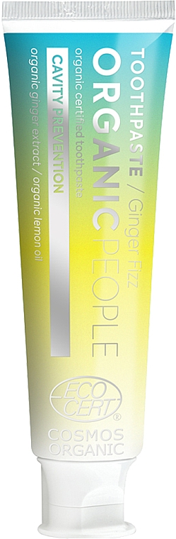 """Pastă de dinți """"Protecție împotriva cariilor"""" - Organic People Ginger Fizz Toothpaste — Imagine N1"""