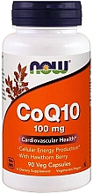 Parfumuri și produse cosmetice Coenzima Q10, 90 capsule - Now Foods CoQ10 with Hawthorn Berry