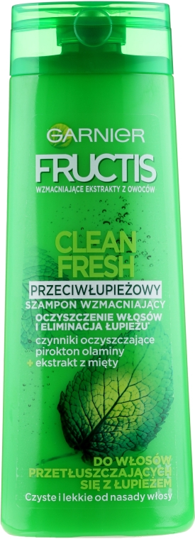 Șampon de păr anti-mătreață - Garnier New Fructis Clean Fresh Shampoo — Imagine N2