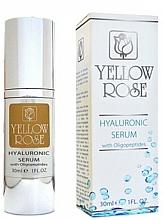 Parfumuri și produse cosmetice Ser cu acid hialuronic - Yellow Rose Hyaluronic Serum With Oligopeptides