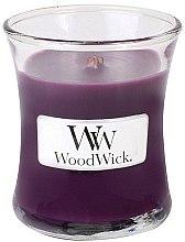 Parfumuri și produse cosmetice Lumânare aromată cu suport din sticlă - WoodWick Hourglass Candle Spiced Blackberry