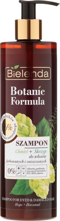 """Șampon pentru părul vopsit """"Hamei și coada-calului"""" - Bielenda Botanic Formula Horsetail & Hops Shampoo"""