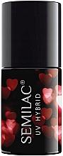 Parfumuri și produse cosmetice Lac hybrid pentru unghii - Semilac Platinum UV Hybrid Valentine