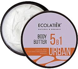 """Parfumuri și produse cosmetice Cremă-unt 5 în 1pentru corp """"Cacao, shea, nucă de cocos, macadamia, babassu"""" - Ecolatier Urban Body Butter"""