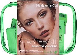 Parfumuri și produse cosmetice Set pentru vosirea sprâncenelor și genelor - RefectoCil Lash & Brow Starter Sensitive Kit (dye/3x15ml + developer/gel/60ml + tint/remover/150ml + artist/palette + pads + folder)
