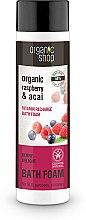 Parfumuri și produse cosmetice Spumă de baie cu zmeură și acai Berry - Organic Shop Organic Acai and Raspberry Berry Bath Foam