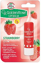 Parfumuri și produse cosmetice Balsam de buze - Golden Rose Lip Balm Strawberry SPF15