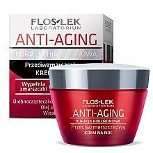 Parfumuri și produse cosmetice Cremă de noapte pentru față - Floslek Anti-Aging Kuracja Hialuronowa Night Cream