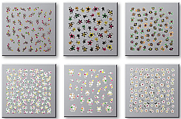 Parfumuri și produse cosmetice Set Abțibilduri pentru unghii 42737 - Top Choice Nail Decorations Stickers Set
