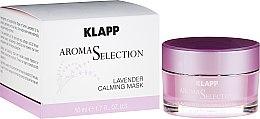 Parfumuri și produse cosmetice Mască de față - Klapp Aroma Selection Lavender Calming Mask