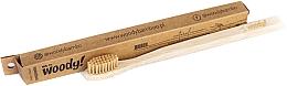 Духи, Парфюмерия, косметика Бамбуковая зубная щетка, средняя, бежевая щетина - WoodyBamboo Bamboo Toothbrush Natural
