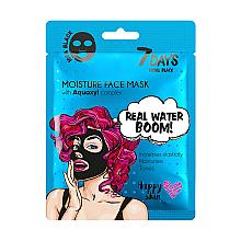 Parfumuri și produse cosmetice Mască de față - 7 Days Total Black Moisture Real Water Boom