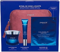 Parfumuri și produse cosmetice Set - Payot Blue Techni Liss Smoothing Cares Ritual (f/cr/50ml + eye/cr/15ml + mask/3pcs + bag)
