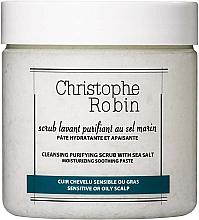 Parfumuri și produse cosmetice Scrub cu sare de mare pentru scalp și păr - Christophe Robin Cleansing Purifying Scrub With Sea Salt