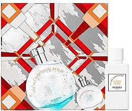 Parfumuri și produse cosmetice Hermes Eau des Merveilles Bleue - Set (edt/50ml + b/lot/40ml + edt/7.5ml)