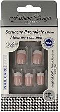 """Parfumuri și produse cosmetice Unghii false """"Manichiură franceză"""", 77968 - Top Choice Fashion Design"""