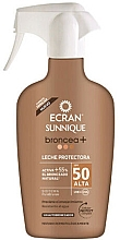 Parfumuri și produse cosmetice Loțiune-spray bronzant cu protecție solară - Ecran Sunnique Broncea+ Lotion Spf50