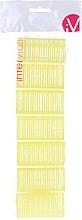 Parfumuri și produse cosmetice Bigudiuri Velcro, 499597, galben - Inter-Vion
