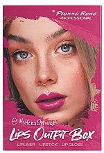 Parfumuri și produse cosmetice Set pentru machiajul buzelor - Pierre Rene Lips Outfit Box No. 01 @MsHeraOfficial (lipstick/3g + lip/pensil/0.4g + lip/gloss/6ml)