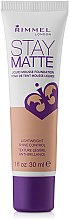 Parfumuri și produse cosmetice Fond de ten matifiant - Rimmel Stay Matte Liquid Mousse Foundation