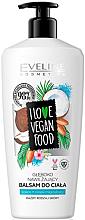 """Parfumuri și produse cosmetice Balsam de corp """"Cocos și Migdale"""" - Eveline I Love Vegan Food Body Balm"""