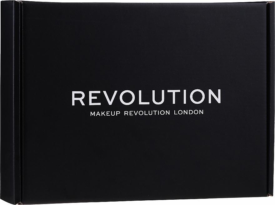 Set - Makeup Revolution Black Box Set № 1 (eye/palette/16g + highlighter/14g + powder/5.5g + br/gel/6ml + f/stick/6.2g + lipstick/3.5g + l/balm/2.2g)