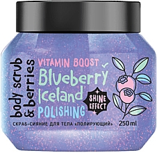 "Parfumuri și produse cosmetice Scrub pentru corp ""Lustruire. Afine"" - MonoLove Bio Blueberry Iceland Polishing"
