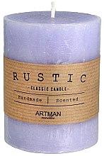 Parfumuri și produse cosmetice Lumânare aromată, 7x9 cm, mov - Artman Rustic
