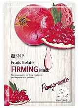Parfumuri și produse cosmetice Mască cu rodie și cu efect de întărire pentru față - SNP Fruits Gelato Firming Mask