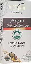Parfumuri și produse cosmetice Benzi pentru epilare pe corp și picioare cu ulei de argan - Victoria Beauty Delicate Skin Care Legs & Body Waxing Strips Argan