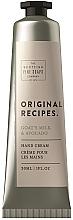 Parfumuri și produse cosmetice Cremă de mâini - Scottish Fine Soaps Original Recipes Goat's Milk & Avocado Hand Cream