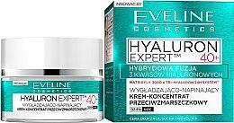 Parfumuri și produse cosmetice Cremă concentrată de zi și noapte - Eveline Cosmetics Hyaluron Expert 40+